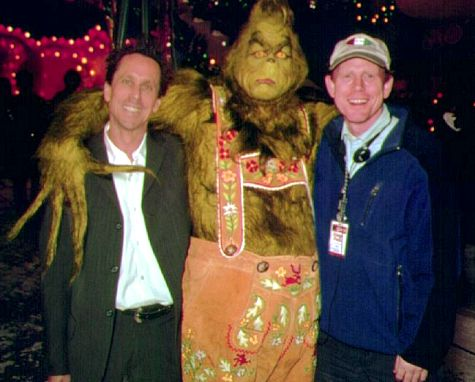 Brian Grazer and Ron Howard with The Grinch